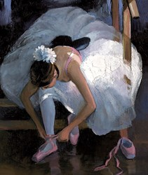 The Pink Slipper by Sherree Valentine Daines - Canvas on Board sized 9x11 inches. Available from Whitewall Galleries